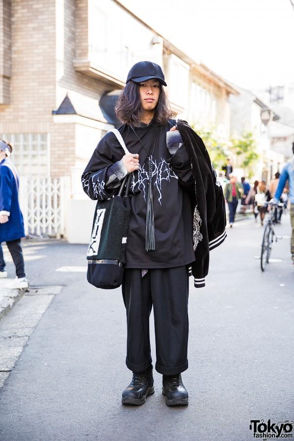 Harajuku Guy in Sub-Age Sweatshirt, Comme des Garcons, Plenty of Water & SokKyo