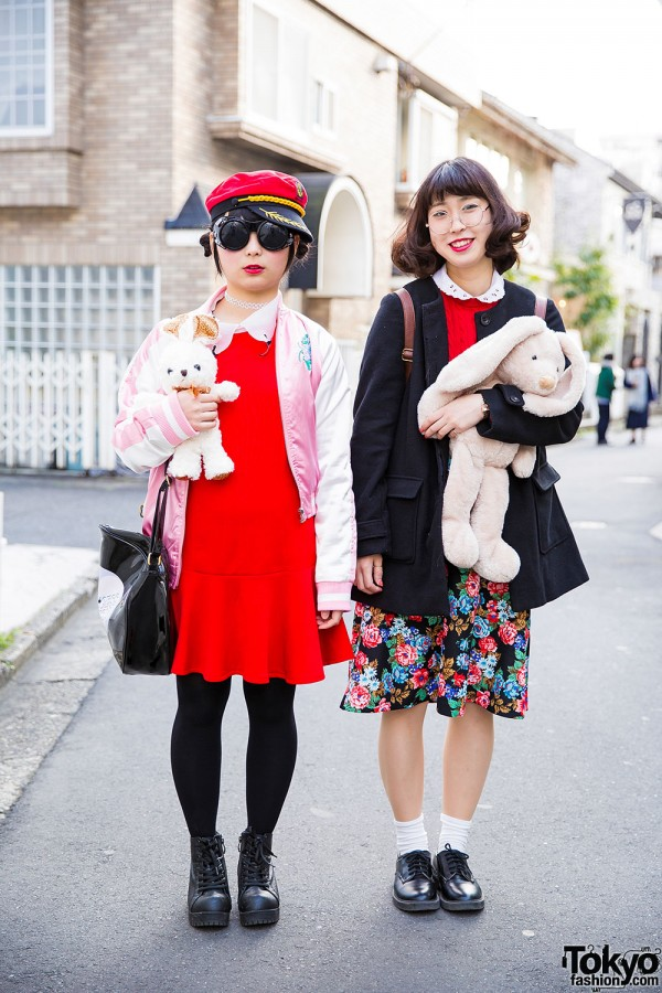 Harajuku Girl w/ Stuffed Animals Wearing Spinns, WEGO, ABC Mart, Uniqlo & E-Hyphen World Gallery