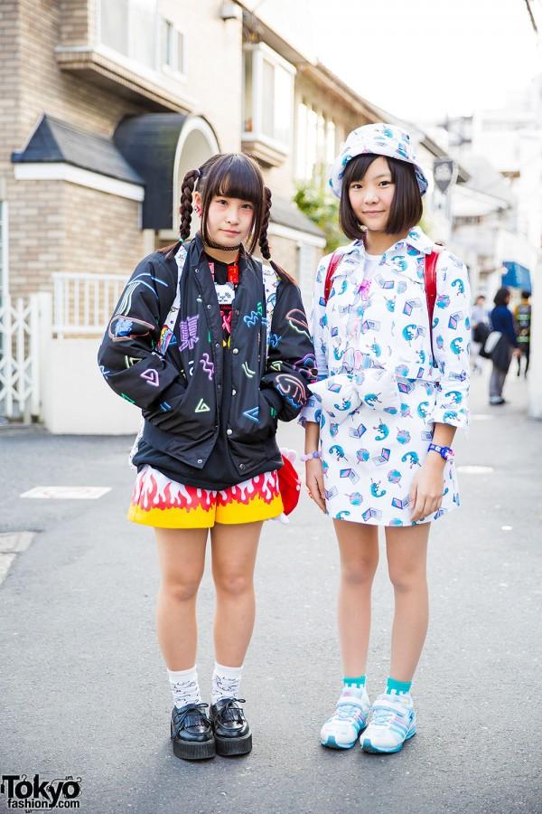 Harajuku Girls in Galaxxxy Japan Fashion w/ Dress 'N Dazzle, Milklim, Itazura & Nakano Ropeway