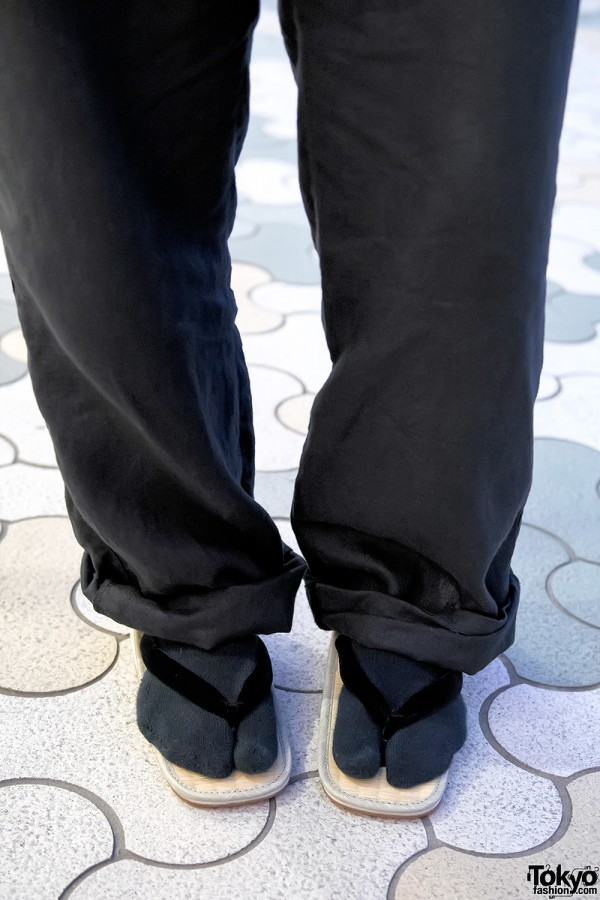 Yohji Yamamoto Socks & Japanese Sandals