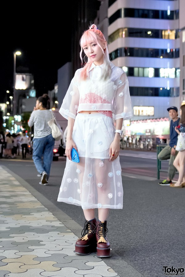 Eva Cheung Wearing Jenny Fax on the Street in Harajuku