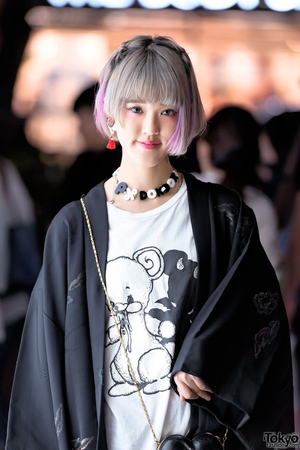 Pastel Hair & Kimono in Harajuku