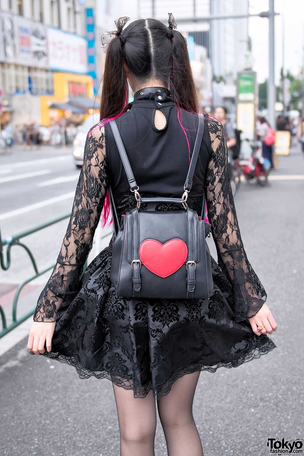 pink twintails gothic harajuku street fashion amp heart