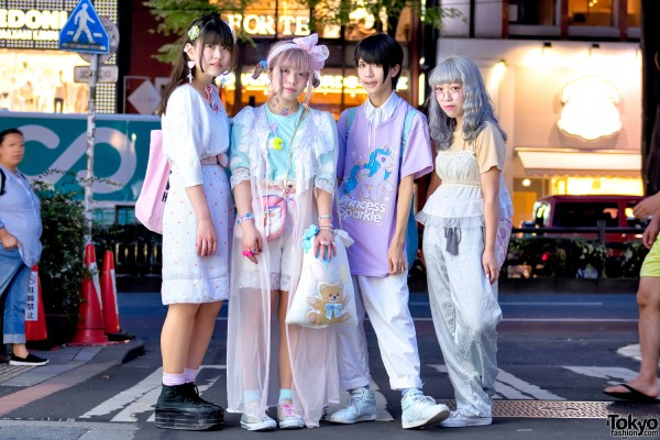 Harajuku Squad in Kawaii Fashion w/ Pastel Hair, Spank! & My Little Pony