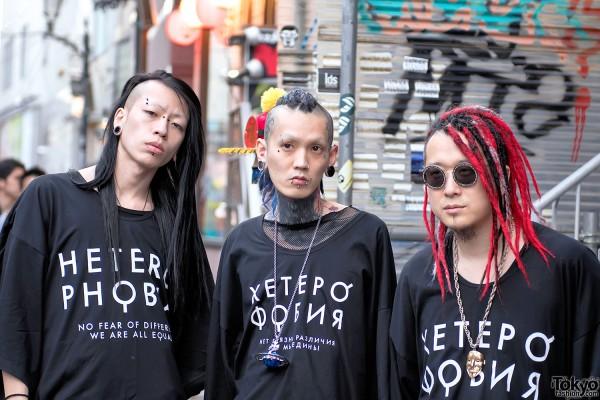 Harajuku Guys Wearing Heterophobia