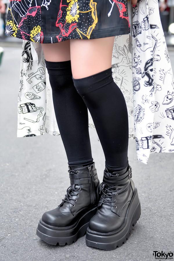 Demonia x Never Mind the XU Harajuku Boots