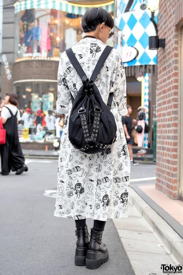 Kobinai Harajuku Jacket & Glad News Backpack