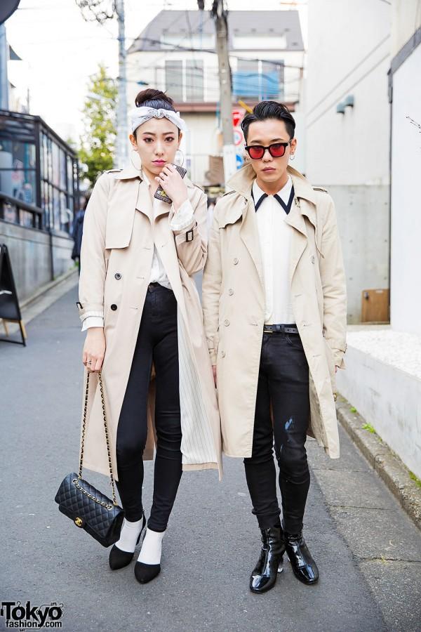 Trench Coats, The Symbolic Tokyo Skinny Jeans, Miu Miu & Chanel in Harajuku