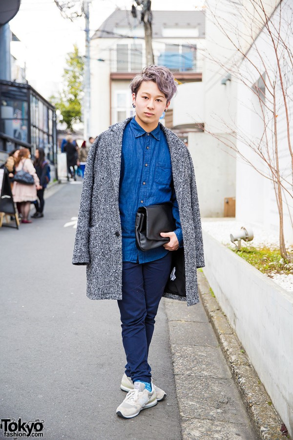 Harajuku Guy in Denim & Tweed