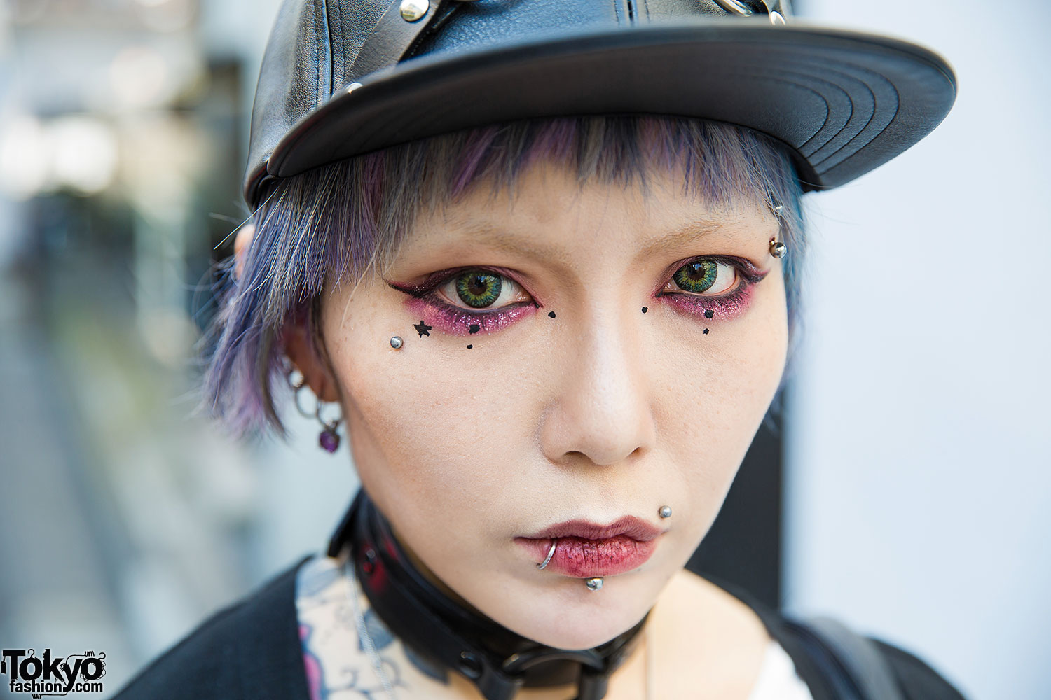 Blue Haired Harajuku Girl W Piercings Amp Tattoos Worlds