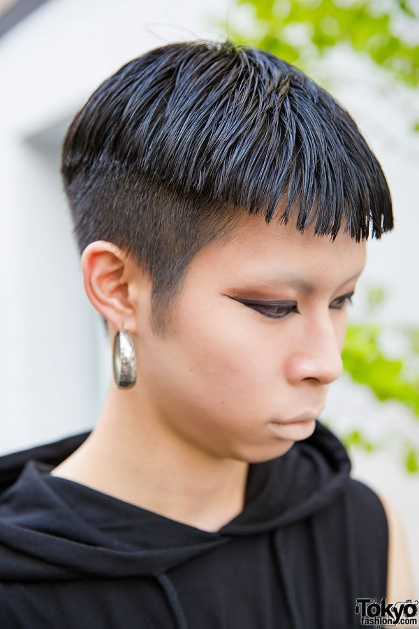 Harajuku Guy With Shaved Hairstyle
