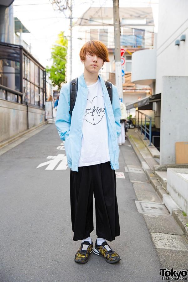 Harajuku Guy in Morph8ne Tee, Onitsuka Tiger Sneakers, Uniqlo & WEGO