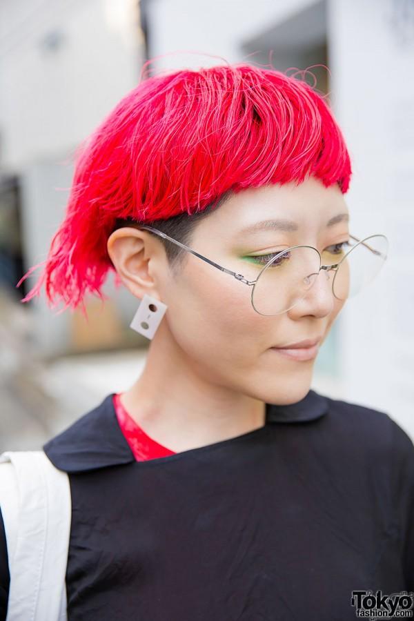 Red Hair & Glasses in Harajuku