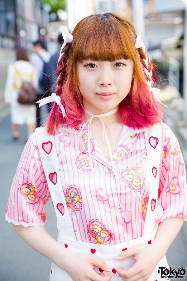 Harajuku Girl with Pajama Top