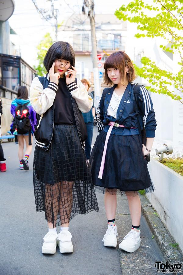 Harajuku Girls in Black Skirts, Rucksacks & Tokyo Bopper Rocking Horse Shoes w/ Adidas, GU, Nixon & Resale Pieces