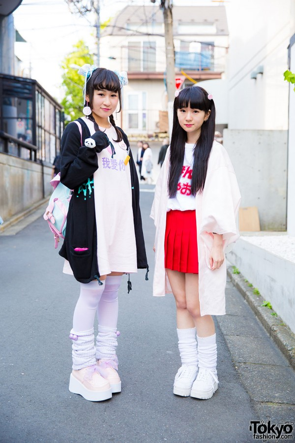 Harajuku Girls in Twintails & Loose Socks w/ Honwaka Pappa, Nesin & Decotrand