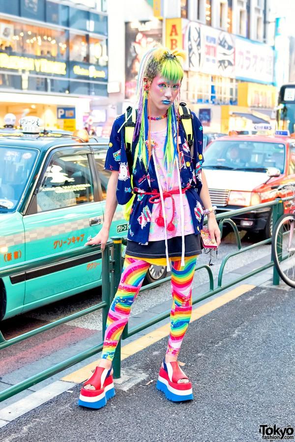 Colorful & Kawaii 6%DOKIDOKI Fashion On The Street in Harajuku