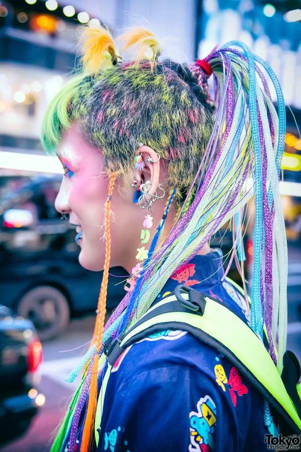 Shaved Rave Hairstyle in Harajuku