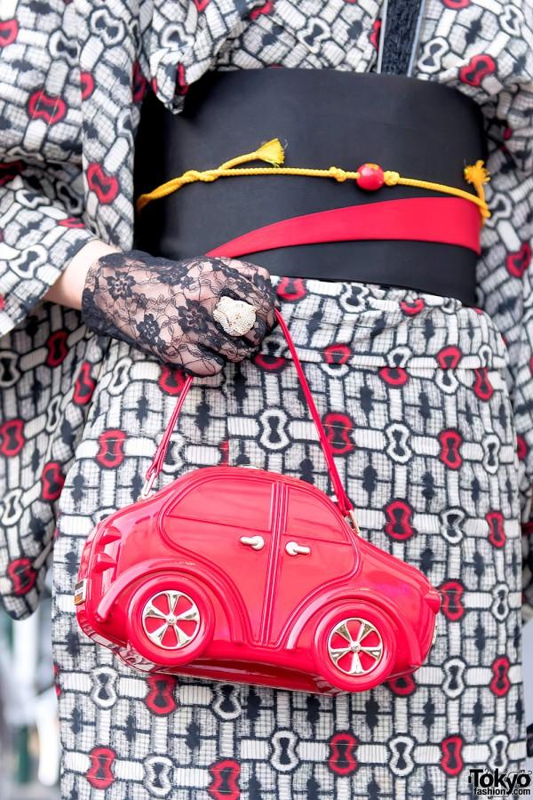 Retro Girl Car Pinup Handbag