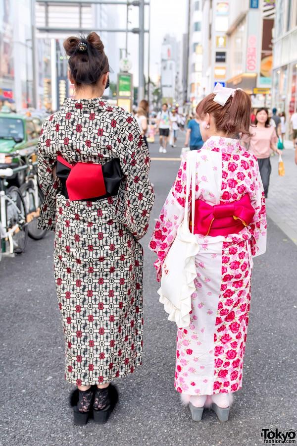 Japanese Summer Kimono Obi Bows