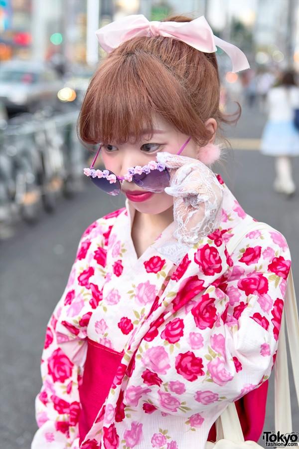 Pink Heart Sunglasses & Pastel Hair