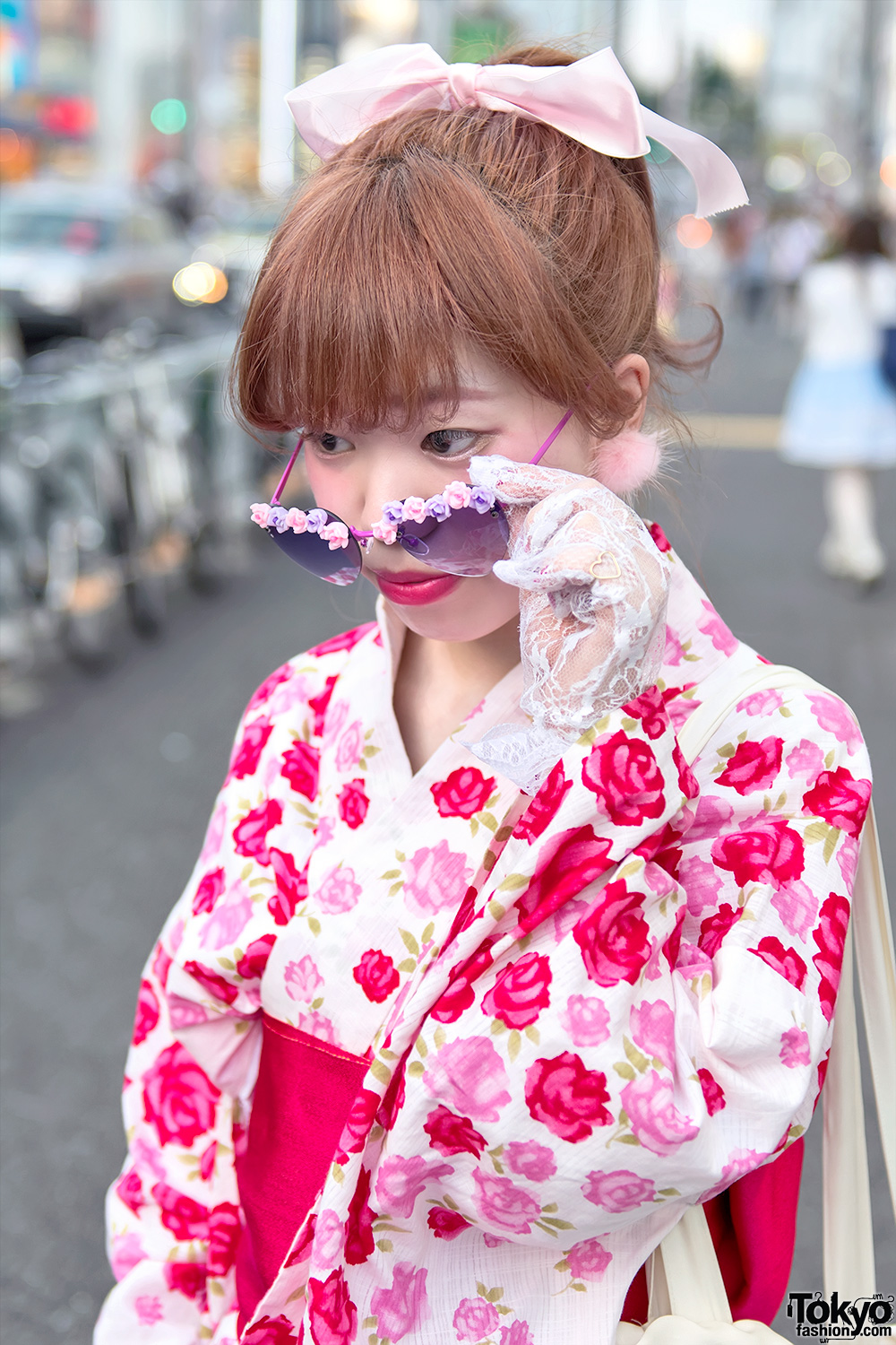Harajuku Girls In Summer Kimono Furry Sandals Amp Cute