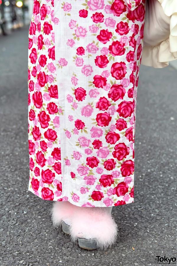 Merry Jenny Furry Platform Sandals