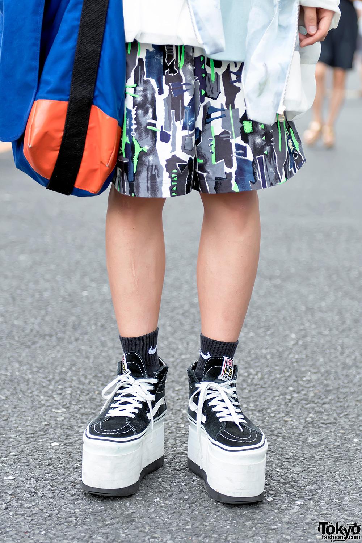 Harajuku Guy In Balmung Jacket Platform Vans Amp Comme Des