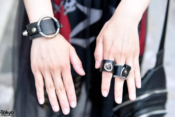 Nyulycadelic Leather Rings & Leather Bracelet