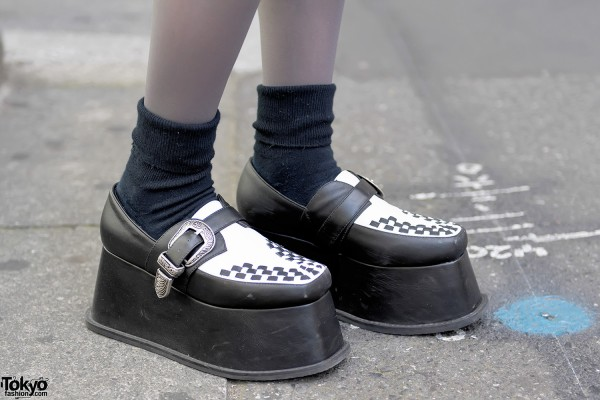 Black & White Platform Creepers