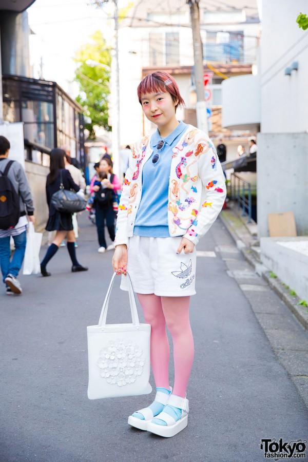 Harajuku Girl in Resale Outfit w/ Kaka Vaka, Otoe, Adidas & Tokyo Bopper Accessories