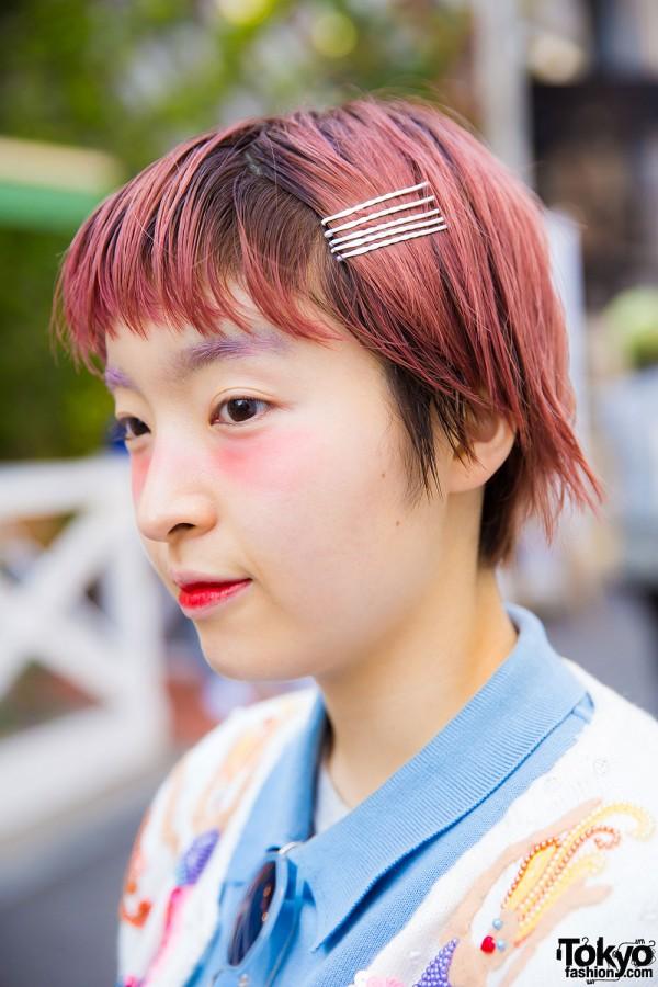 Pink Hair & Purple Eyebrows