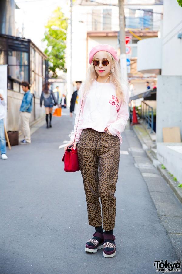 Fendi Animal Print, Chanel Bag & Stella McCartney Sandals in Harajuku