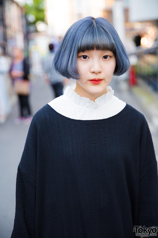 Harajuku Girls W Blue Bob Hairstyle Faith Tokyo Amp Myob