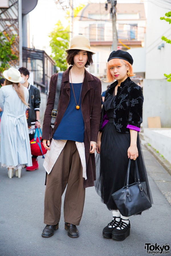 Bunka Fashion College Students in Harajuku Wearing Vintage Styles w/ Dr. Martens & Tokyo Bopper