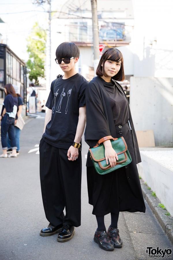 Harajuku Duo in Black Fashion w/ Gucci, Uniqlo, Dr. Martens, Saint Laurent Paris & Resale Items