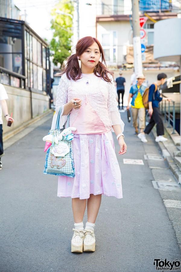 Harajuku Girl in Twin Tails & Pastel Fashion w/ Jenny Fax, Kunika x Honey Bunch & Tokyo Bopper