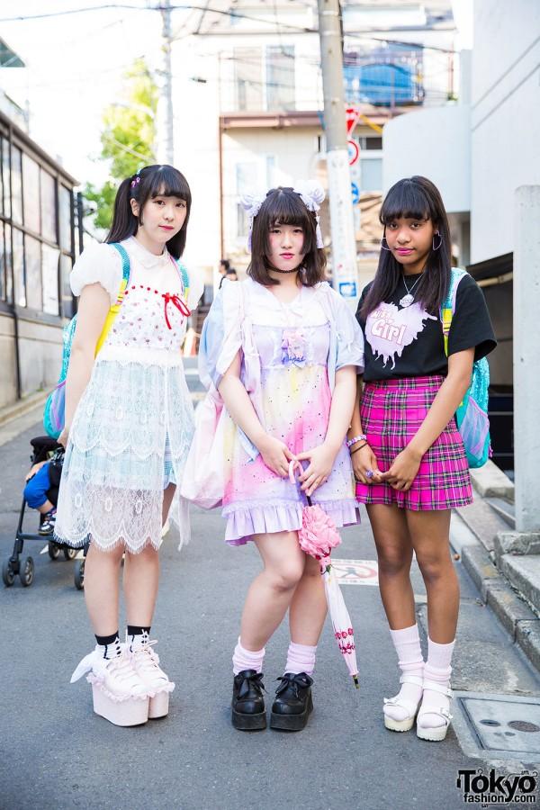 Harajuku Girls in Kawaii Fashion by Peco Club, Bubbles, Nile Perch, Swan Kiss & Little Mermaid