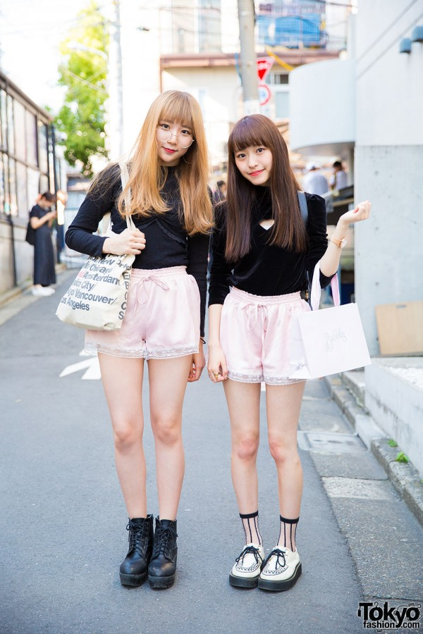 Harajuku Girls in Matching Pink Shorts w/ Bubbles, One Spo & E hyphen world gallery