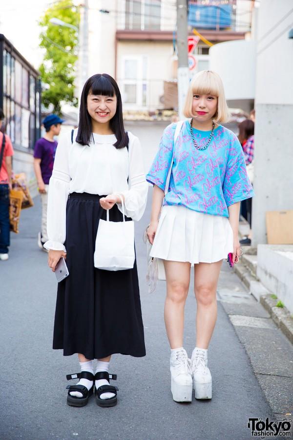 Harajuku Girls in Adidas, Joyrich, American Apparel & YRU Items