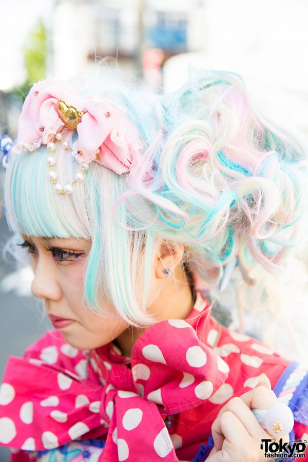 Pastel hair and Angelic Pretty accessories