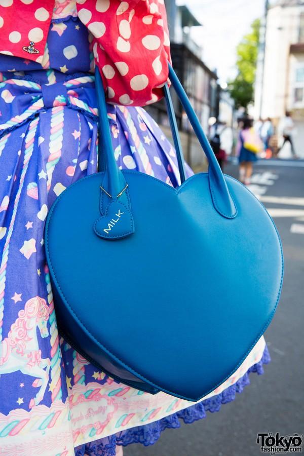 Heart-shaped Milk Harajuku bag