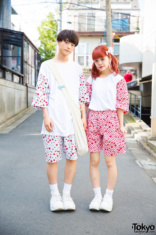 Supercute Harajuku Couple In Matching Remake Fashion Tokyo Bopper