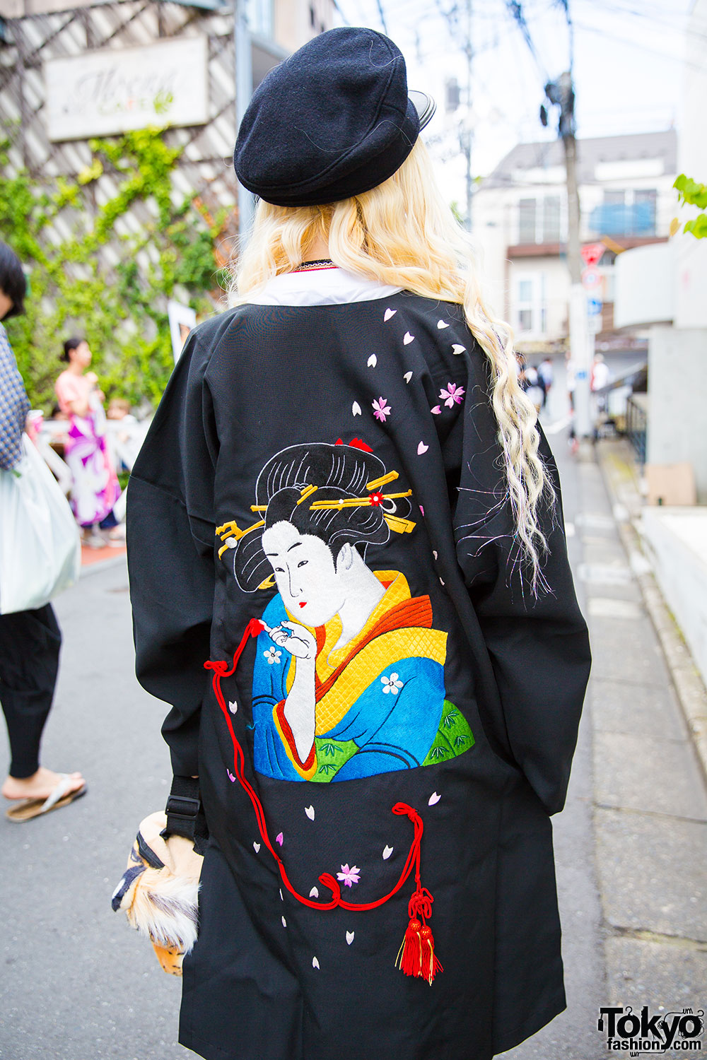 Blonde Harajuku Girl in Remake Fashion, Geisha Jacket