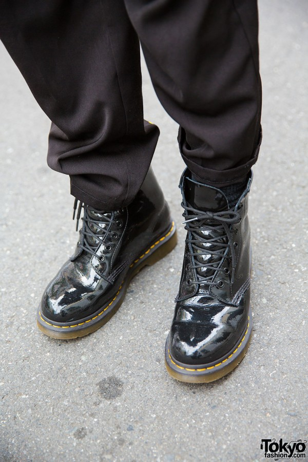 Patent Leather Dr. Martens boots