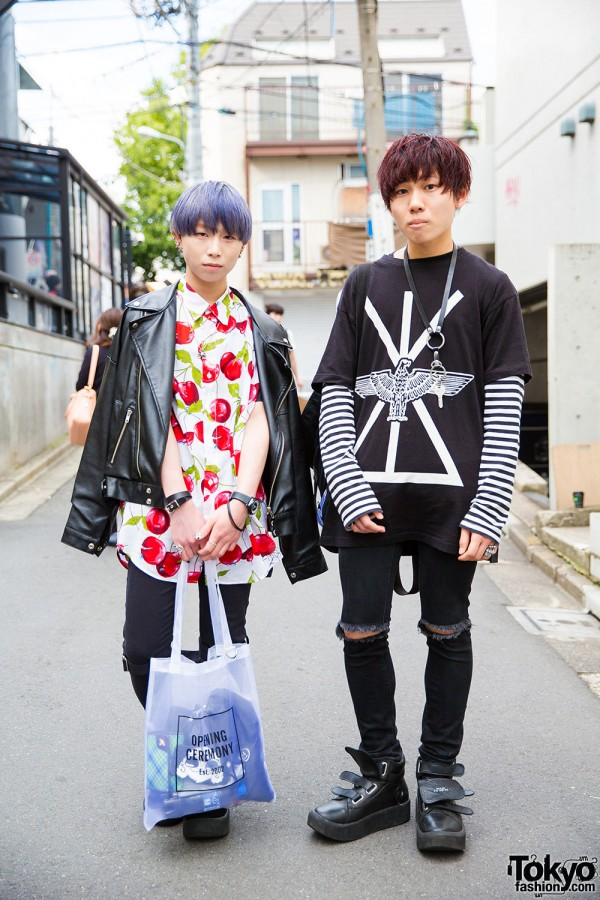 Harajuku Guys in Milky Boy, Long Clothing, Candy Stripper, Uniqlo, Tokyo Bopper and UNIF