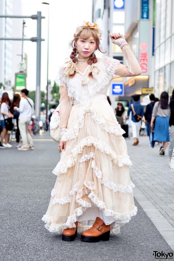Vintage Japanese Street Style w/ Meno Harajuku Dress