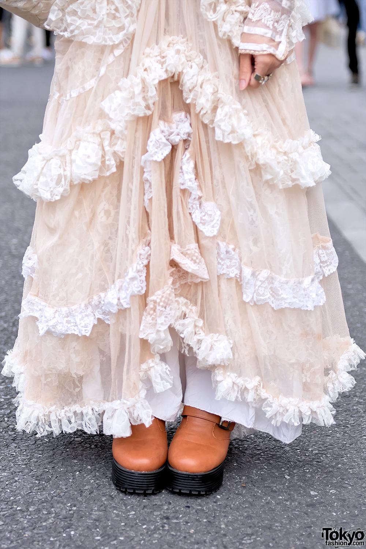 Vintage Harajuku Street Style W Meno Dress Freckleat