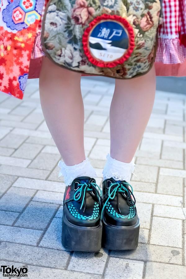 Yosuke Platform Creepers & Ruffle Socks