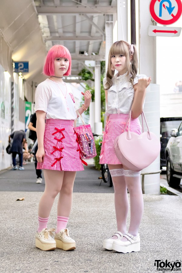Harajuku Girls in Kawaii Candy Stripper Skirts